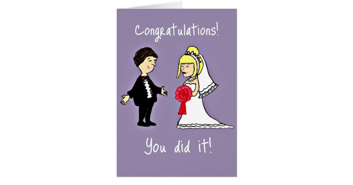 Funny Wedding congratulations Card – Funny Wedding Wishes Cards