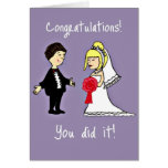 Funny Wedding congratulations Greeting Cards