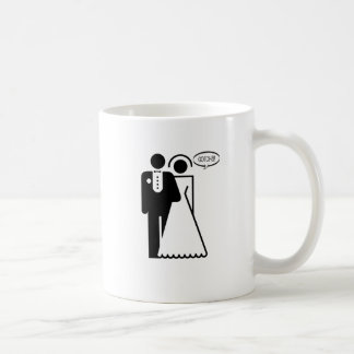 "Funny, ""wedding Couple"" Gotcha! design Coffee Mug"