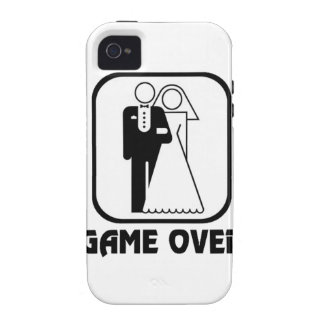 Funny wedding Game Over Vibe iPhone 4 Cases