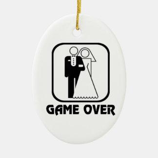 Funny wedding Game Over Ceramic Ornament