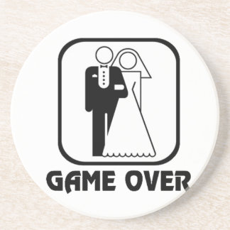 Funny wedding Game Over Coaster