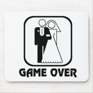 Funny wedding Game Over Mouse Pad