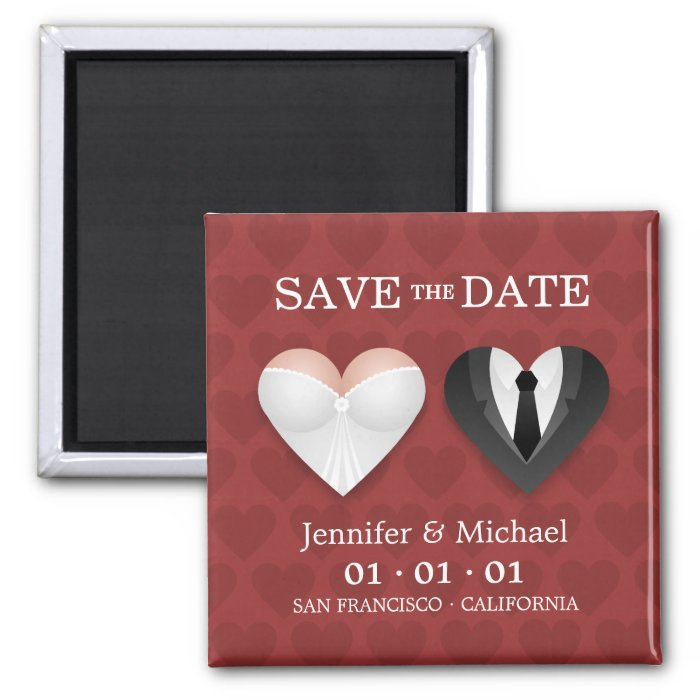 Funny Wedding Hearts - Save the Date magnet