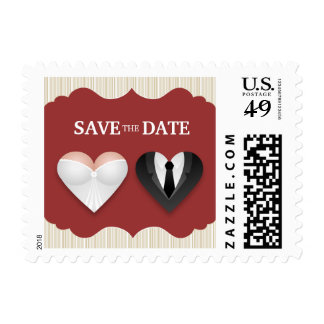 Funny Wedding Hearts - Save the Date stamps