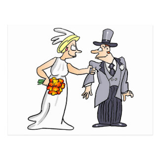 Funny Wedding Picture Postcard