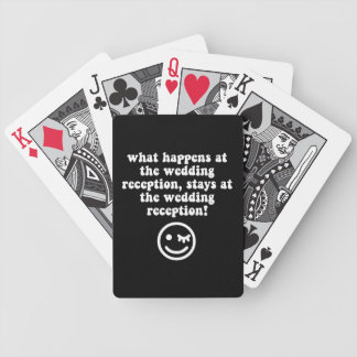 funny wedding reception bicycle playing cards