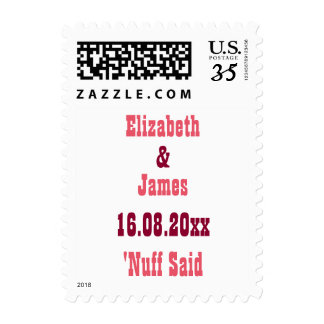 Funny Wedding Save the Date Postcard Postage Stamp