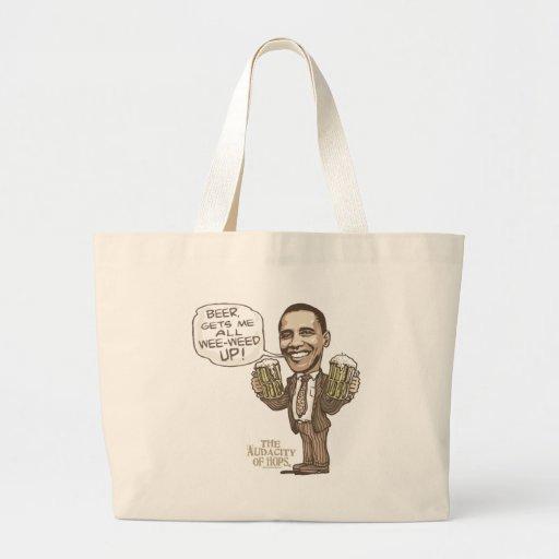 Funny Wee Weed Up Obama Beer Gear Bags