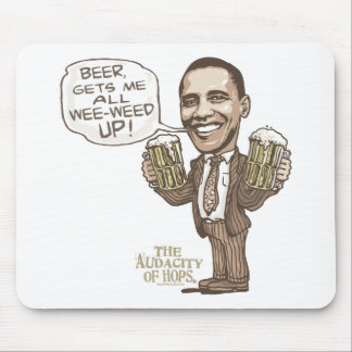 Funny Wee Weed Up Obama Beer Gear Mouse Pad