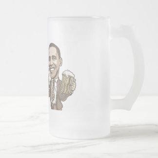 Funny Wee Weed Up Obama Beer Gear 16 Oz Frosted Glass Beer Mug