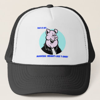 funny weight loss pig cartoon gift trucker hat