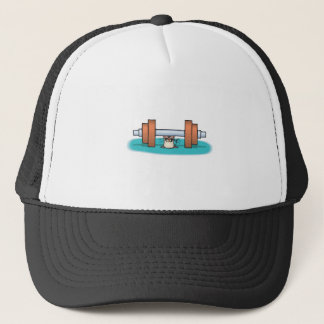 funny weightlifting mouse trucker hat