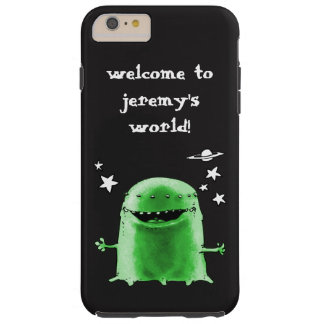 funny weird alien cartoon customizable text tough iPhone 6 plus case