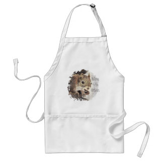 Funny, Welcome to the Nuthouse, Squirrel, Animal Adult Apron