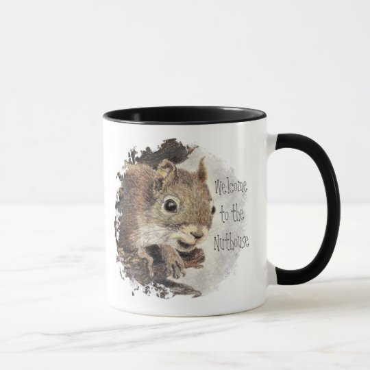 Funny, Welcome to the Nuthouse, Squirrel, Animal Mug