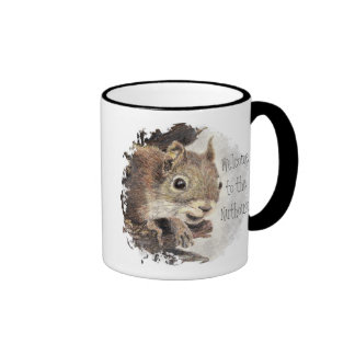 Funny, Welcome to the Nuthouse, Squirrel, Animal Ringer Mug