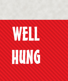 funny well hung red stripe large christmas stocking