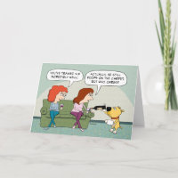 Funny Well-Trained, Wine-Serving Dog Birthday Card