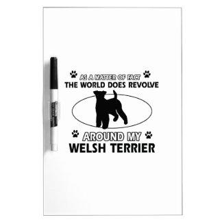 Funny welsh terrier designs Dry-Erase whiteboard
