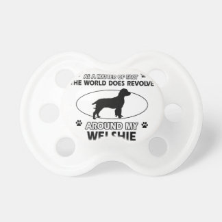 Funny welshie designs baby pacifiers
