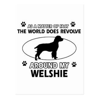 Funny welshie designs postcard
