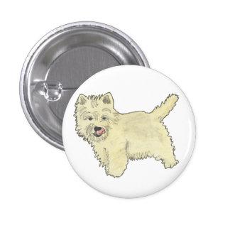 Funny West Highland Terrier novelty art badge Button