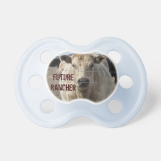 Funny Western Charolais Cattle Rancher Pacifiers