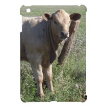 Funny Western Cow at a Favorite Scratching Post iPad Mini Cover