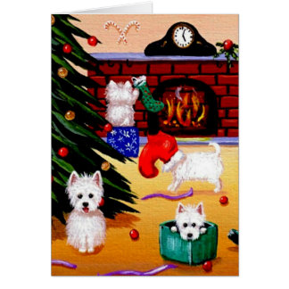 Funny Westie Christian Christmas Art Creationarts Stationery Note Card