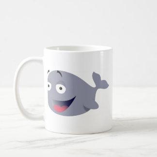 funny whale classic white coffee mug