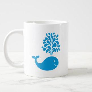 Funny whale giant coffee mug