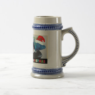 Funny Whale Holiday Beer Steiner Coffee Mugs