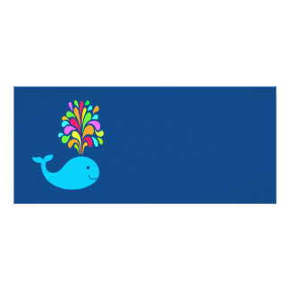 Funny whale rack card