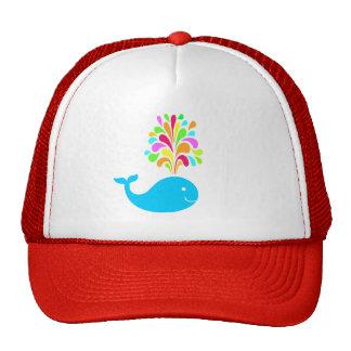Funny whale trucker hat