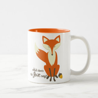 Funny What Does The Fox Say Illustration Mug