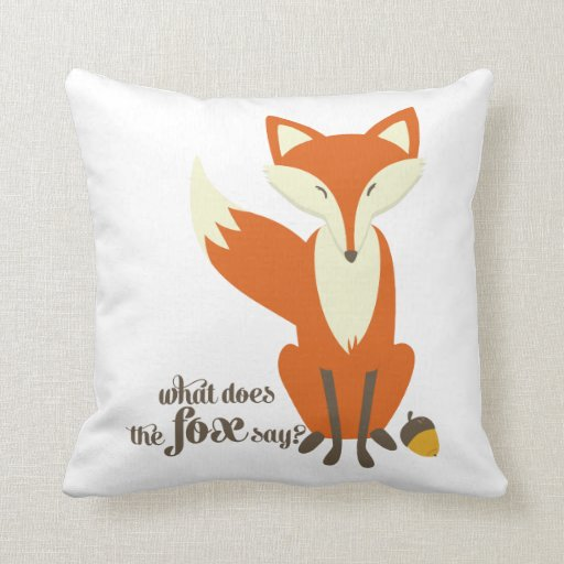 Funny What Does The Fox Say Illustration Pillow