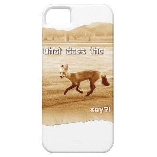 funny what does the fox say iPhone SE/5/5s case