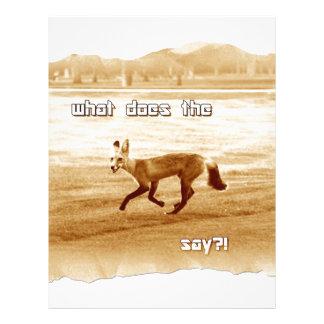 funny what does the fox say custom letterhead
