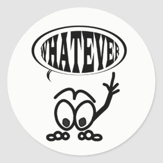 Funny Whatever Cartoon Stickman Sticker