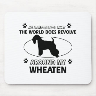 Funny wheaten designs mouse pad