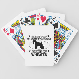 Funny wheaten designs deck of cards