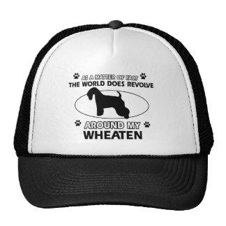 Funny wheaten designs trucker hat