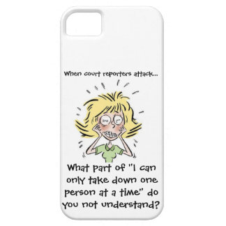 Funny When Court Reporters Attack iPhone SE/5/5s Case