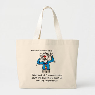 Funny When Court Reporters Attack Large Tote Bag