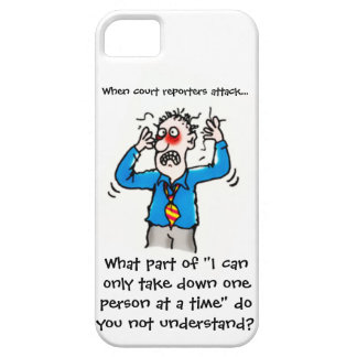 Funny When Court Reporters Attack (Men) iPhone SE/5/5s Case