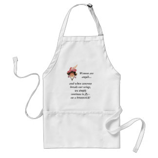 Funny Whimsical Lady Angel Apron