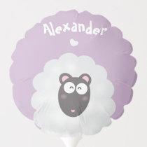 Funny Whimsical Pun I Love You Pastel Purple Name Balloon