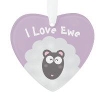 Funny Whimsical Pun I Love You Sweet Pastel Purple Ornament