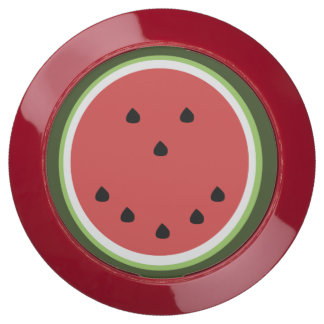 Funny whimsical smiling watermelon USB charging station